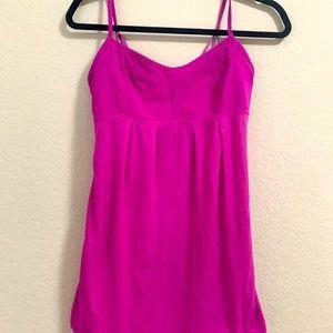 Lululemon Pink tank with adjustable straps size S